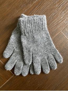 Ангорові чоловічі перчатки світло сірі