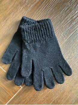 Ангорові чоловічі перчатки темно сірі