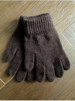 Ангорові чоловічі перчатки коричневі