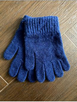 Ангорові чоловічі перчатки сині