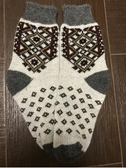 Ангорові чоловічі носки вишивка на світлому