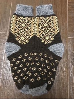 Ангорові чоловічі носки вишивка на темному