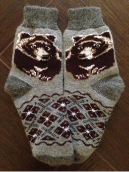 Ангорові чоловічі носки ведмідь коричневий