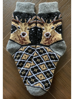 Ангорові чоловічі носки олень новий на чорному