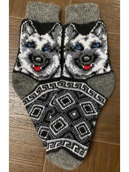 Ангорові чоловічі носки вівчарка сіра