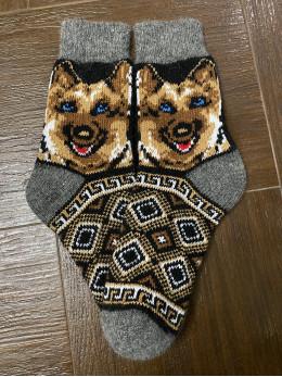 Ангорові чоловічі носки вівчарка коричнева