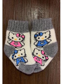Ангорові дитячі носки р.1 Кітті сіра