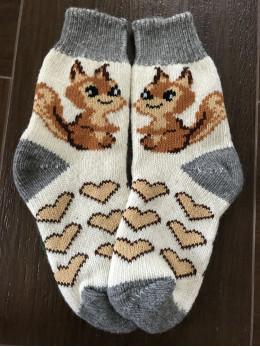 Ангорові жіночі носки білочка з сердечком