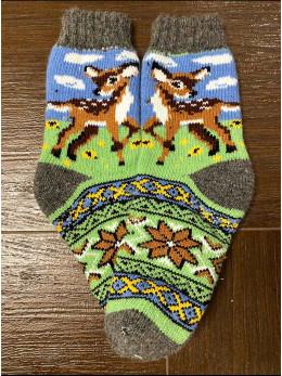 Ангорові жіночі носки з оленятком