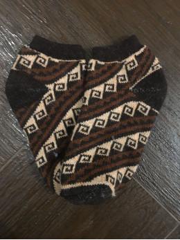 Ангорові чоловічі слідки орнамент гачки на коричневому